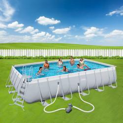 Bestway Basseng - Power Steel Rectangular Frame Pool Model 56470 - 671x366x132cm