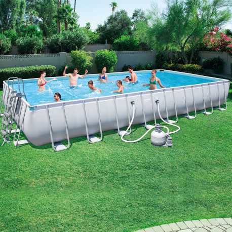 Bestway Basseng - Power Steel Rectangular Frame Pool Model 56623 - 956x488x132cm
