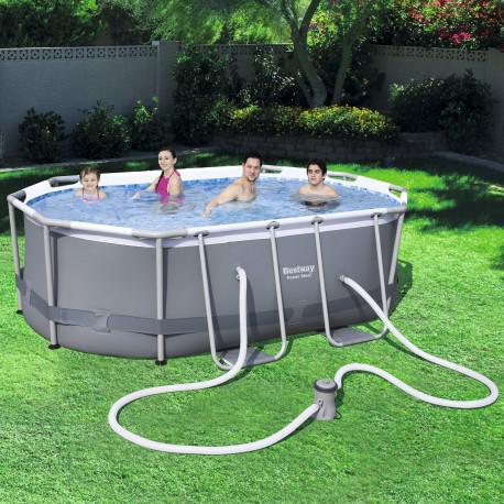 Bestway Basseng - Power Steel Rectangular Frame Pool Model 56617 - 300x200x84cm