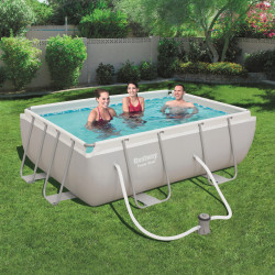 Bestway Basseng - Power Steel Rectangular Frame Pool Model 56629 - 282x196x84cm