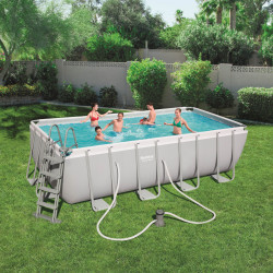 Bestway Basseng - Power Steel Rectangular Frame Pool Model 56670 - 488x244x122cm