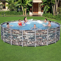 Bestway Basseng - Power Steel Frame Pool Model 56886 - 549x132cm