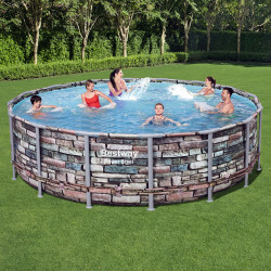 Bestway Basseng - Power Steel Frame Pool Model 56966 - 488x122cm