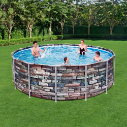 Bestway Basseng - Power Steel Frame Pool Model 56993- 427x122cm