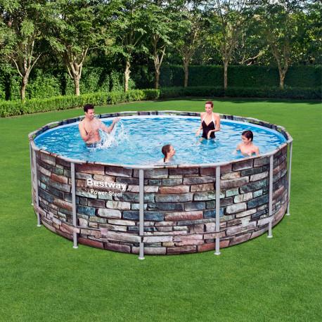 Bestway Basseng - Power Steel Frame Pool Model 56993- 427x122cm