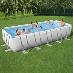 Bestway Basseng - Power Steel Rectangular Frame Pool Model 5611Z - 640x274x132cm
