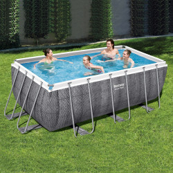Bestway Basseng - Power Steel Rectangular Frame Pool Model 56722 - 412x201x122cm