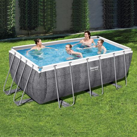 Bestway Basseng - Power Steel Rectangular Frame Pool Model 56722 - 412x201x122cm