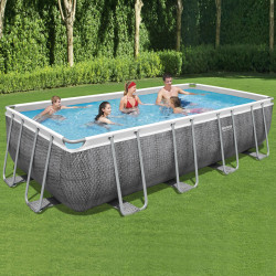 Bestway Basseng - Power Steel Rectangular Frame Pool Model 56998 - 549x274x122cm