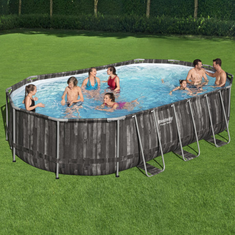 Bestway Basseng - Power Steel Rectangular Frame Pool Model 5611R - 610x366x122cm