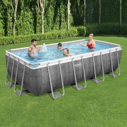 Bestway Basseng - Power Steel Rectangular Frame Pool Model 56996 - 488x244x122cm