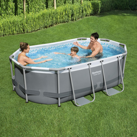 Bestway Basseng - Power Steel Rectangular Frame Pool Model 5614A - 305x200x84cm