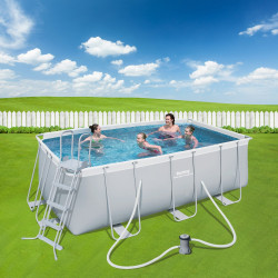 Bestway Basseng - Power Steel Rectangular Frame Pool Model 56456 - 412x201x122cm