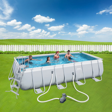 Bestway Basseng - Power Steel Rectangular Frame Pool Model 56465 - 549x274x122cm