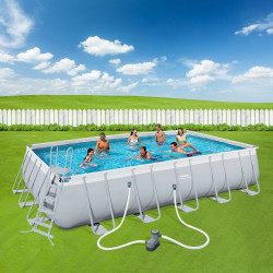 Bestway Basseng - Power Steel Rectangular Frame Pool Model 56470 - 671x366x132cm