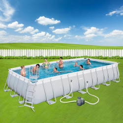 Bestway Basseng - Power Steel Rectangular Frame Pool Model 56474 - 732x366x132cm